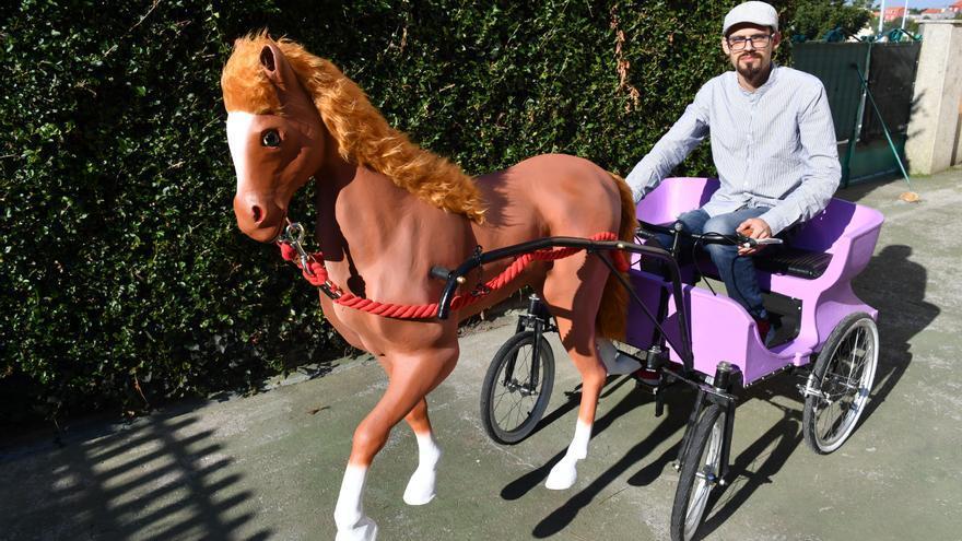 Un caballo para un recuerdo en A Coruña