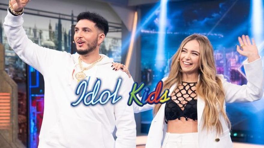 Omar Montes y Ana Mena, integrantes del jurado de la segunda edición de 'Idol Kids' en Telecinco