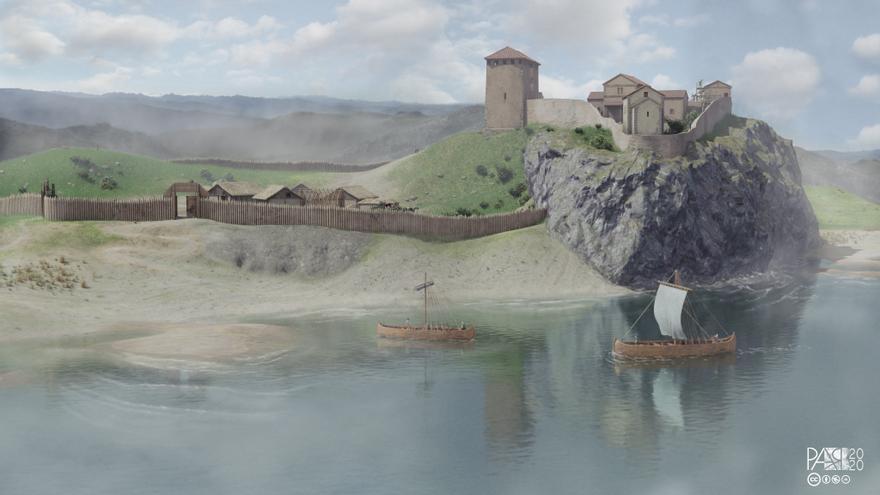 El Castillo de Gauzón, como nunca se ha visto: así es la recreación del yacimiento en 3D