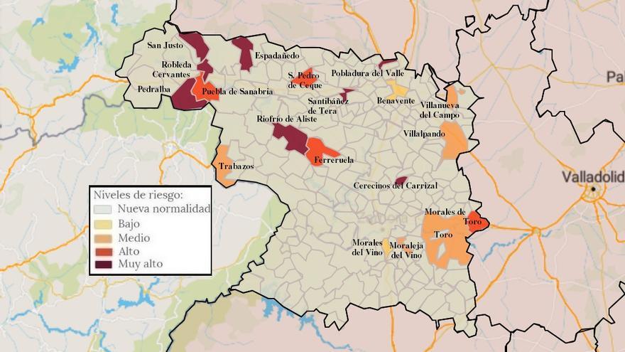 Mapa de coronavirus de Zamora, hoy, viernes | De nuevo, una veintena de localidades con contagios