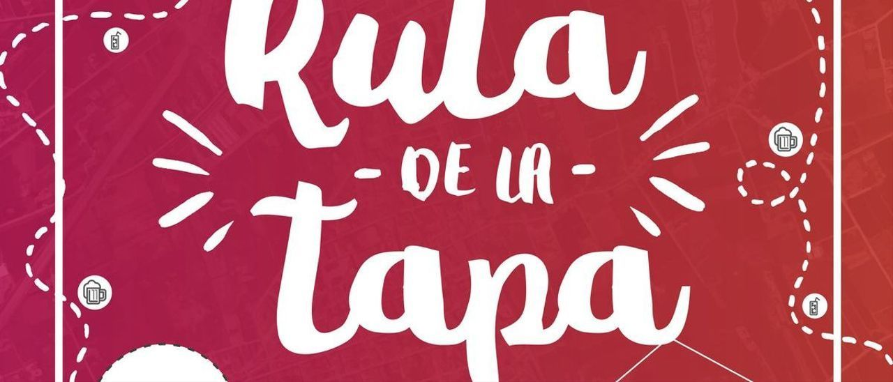 Cartel anunciador de la Ruta de la Tapa en Catral