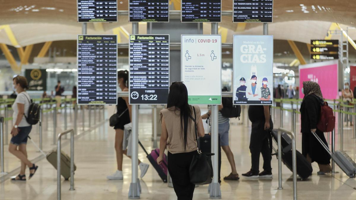 El aeropuerto Adolfo Suárez Madrid-Barajas registró el mayor número de pasajeros en mayo.