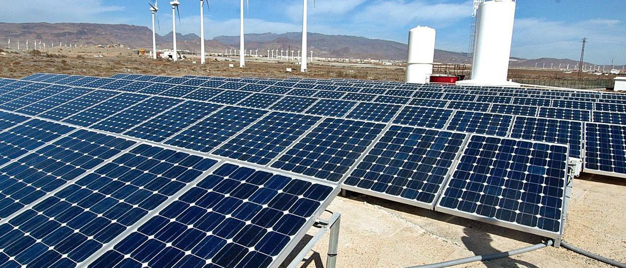Planta fotovoltaica en el sureste de Gran Canaria, donde hasta ahora más se ha implementado este tipo de proyectos.