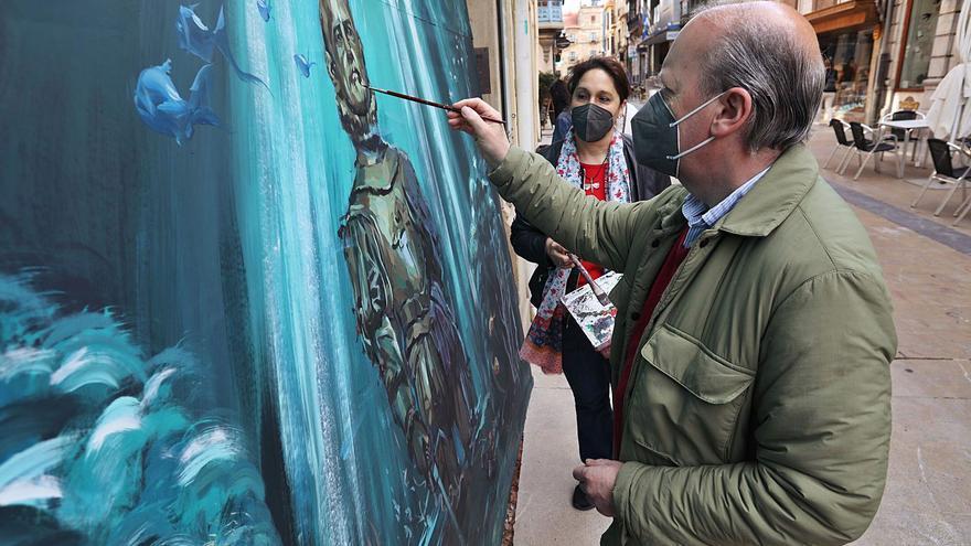 Favila saca su arte a pie de calle