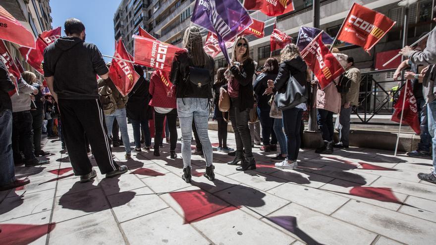 UGT y CC OO anuncian concentraciones para exigir la subida del salario mínimo