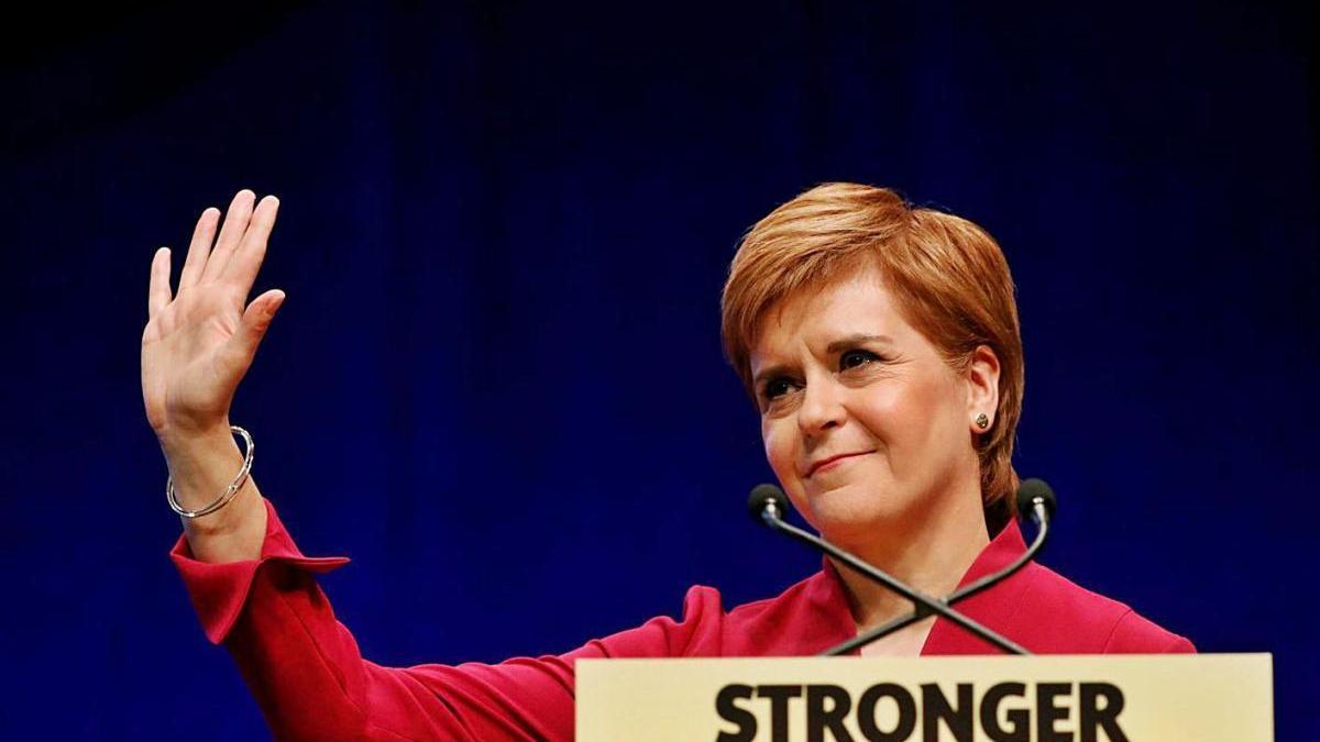 Nicola Sturgeon és la líder del Partit Nacionalista Escocès.