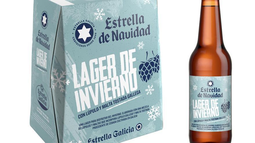 La cerveza Estrella Galicia de la Navidad de 2021, una 'Lager de invierno' para los meses fríos