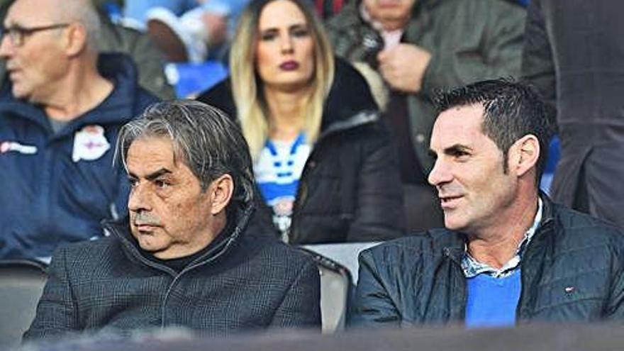 Natxo González vio el partido en Riazor