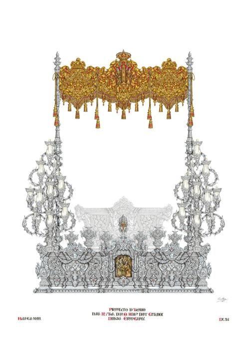 Diseño del nuevo trono de la Virgen de la O