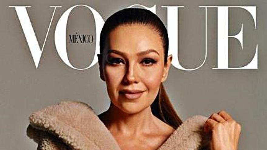 """Thalía logra su sueño de ser portada de la revista """"Vogue"""""""