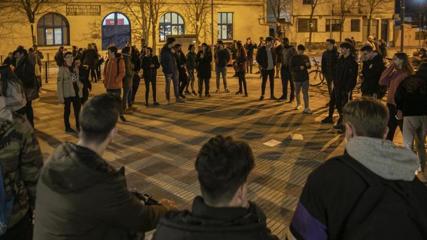 Concentració a Santa Coloma per protestar pel canvi d'ubicació de les barraques