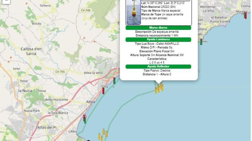 El puerto de Alicante habilita un mapa interactivo en la web para informar incidencias a todo tipo de barcos