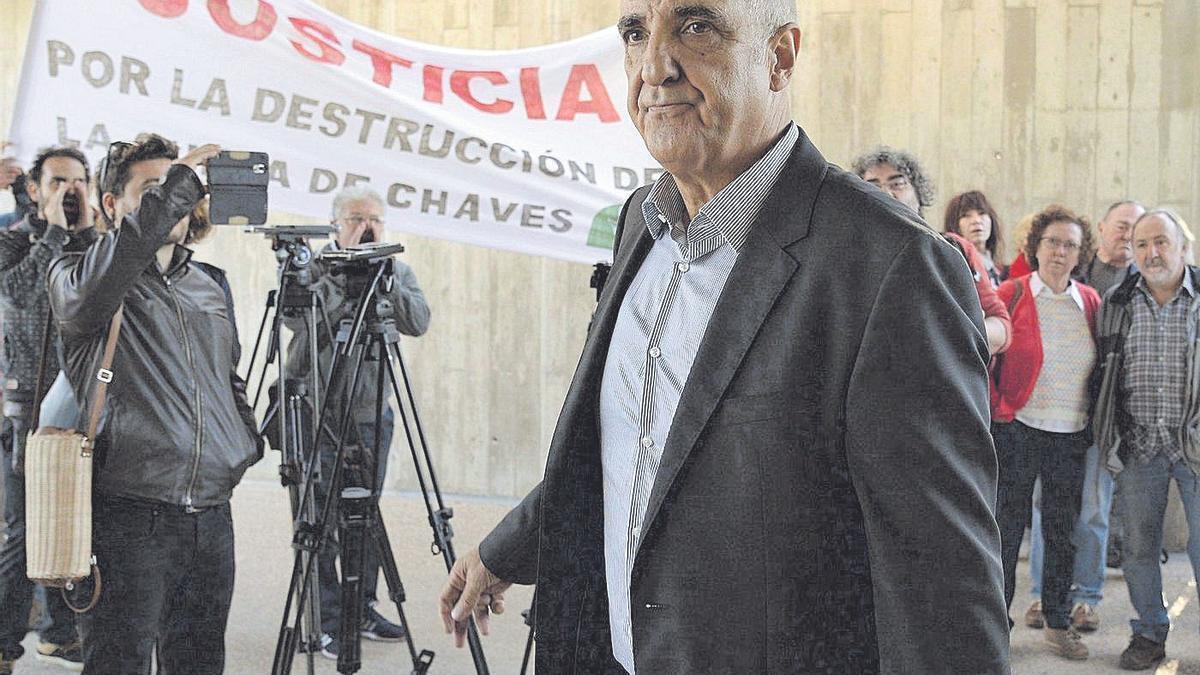 El empresario, durante la vista oral en la que fue condenado a más de dos años por la destrucción de patrimonio.