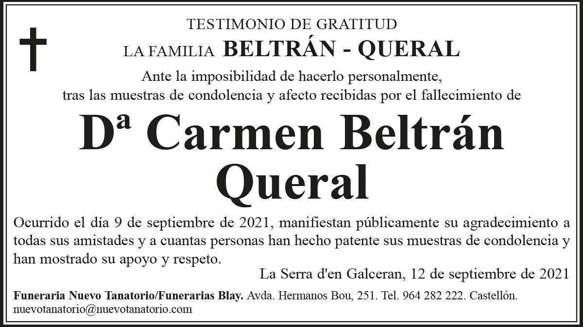 Dª Carmen Beltrán Queral