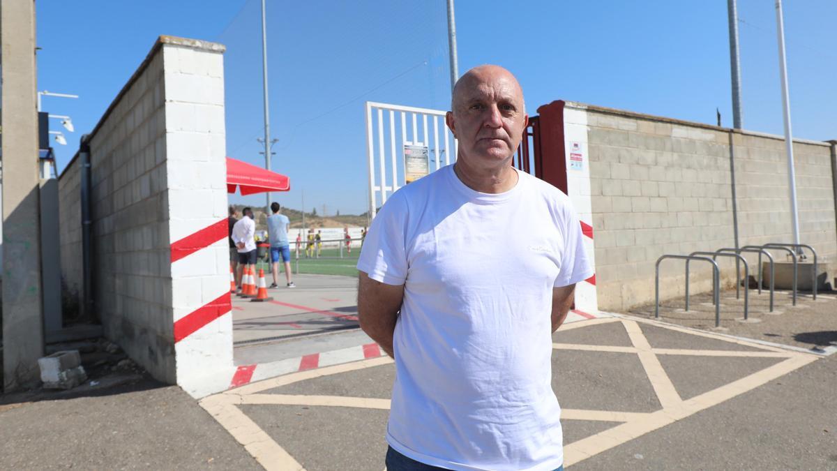 Ramón Lozano, el pasado sábado en las instalaciones de un club zaragozano.
