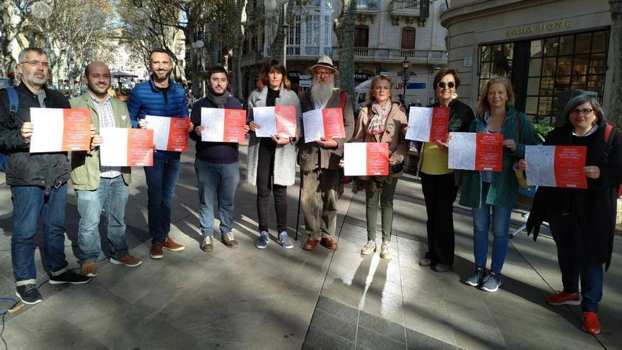 Jornada solidaria a favor de Llevant de los comerciantes y vecinos del Centro de Palma