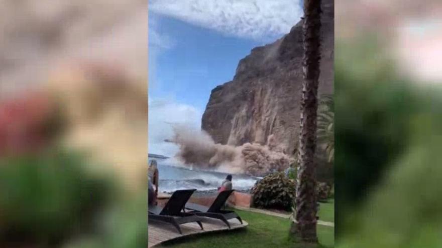 El Gobierno descarta que haya víctimas en el desprendimiento de La Gomera