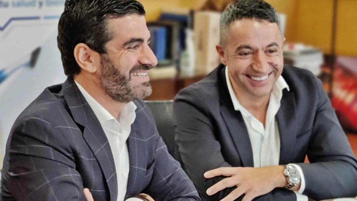 Tomás Fernández, de Goactive, y José Coberos, de Lácteas Cobreros.