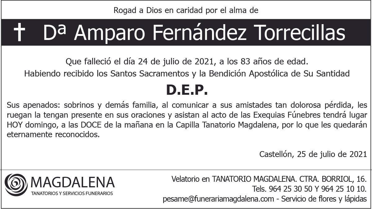 Dª Amparo Fernández Torrecillas