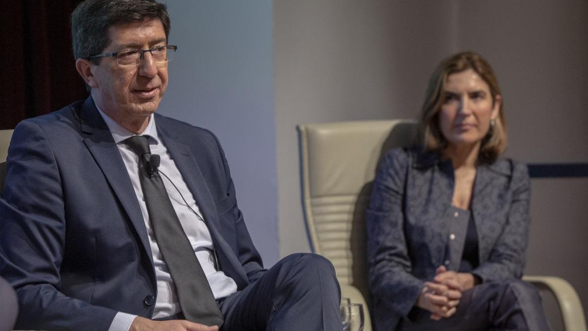 Juan Marín y Rocío Blanco, en el desayuno informativo de Europa Press.