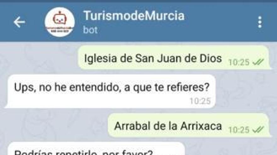 """El ChatBot de Turismo """"sigue olvidando el patrimonio cultural de la Huerta"""""""