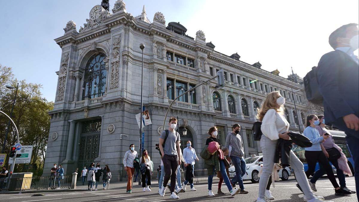 Edificio del Banco de España en Madrid.