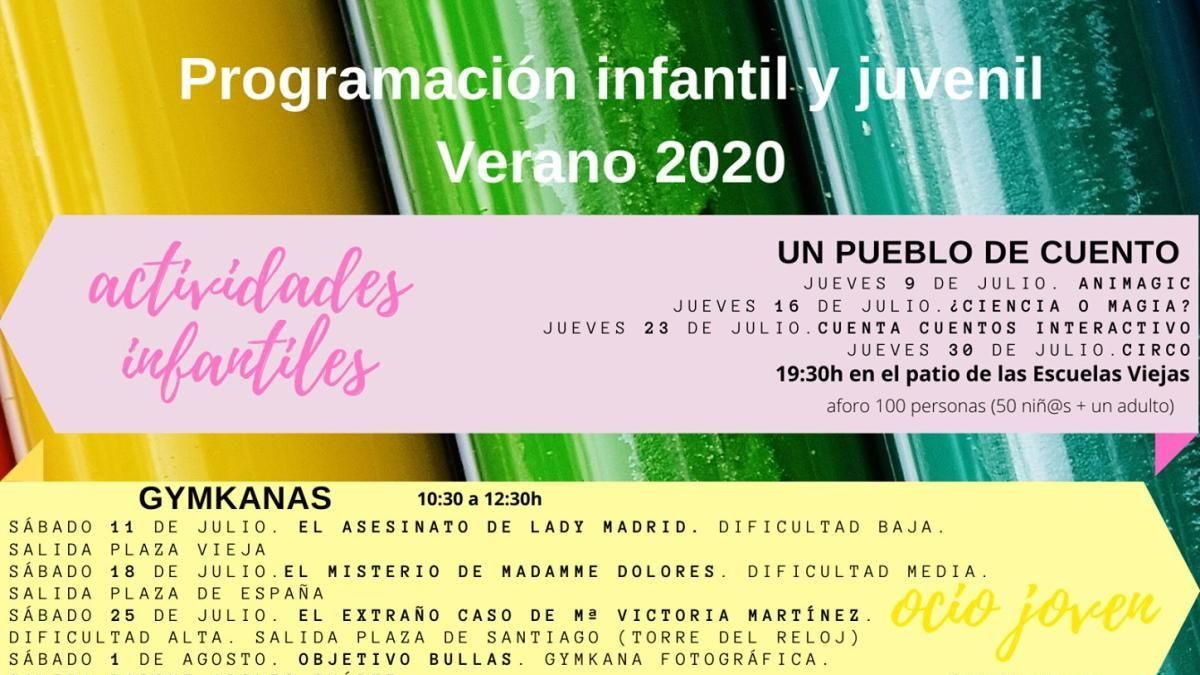 Bullas presenta su programación Juvenil e Infantil verano 2020