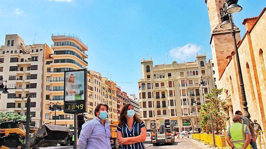 La zona peatonalizada de Sant Agustí contará con un pavimento gris acorde con el entorno protegido