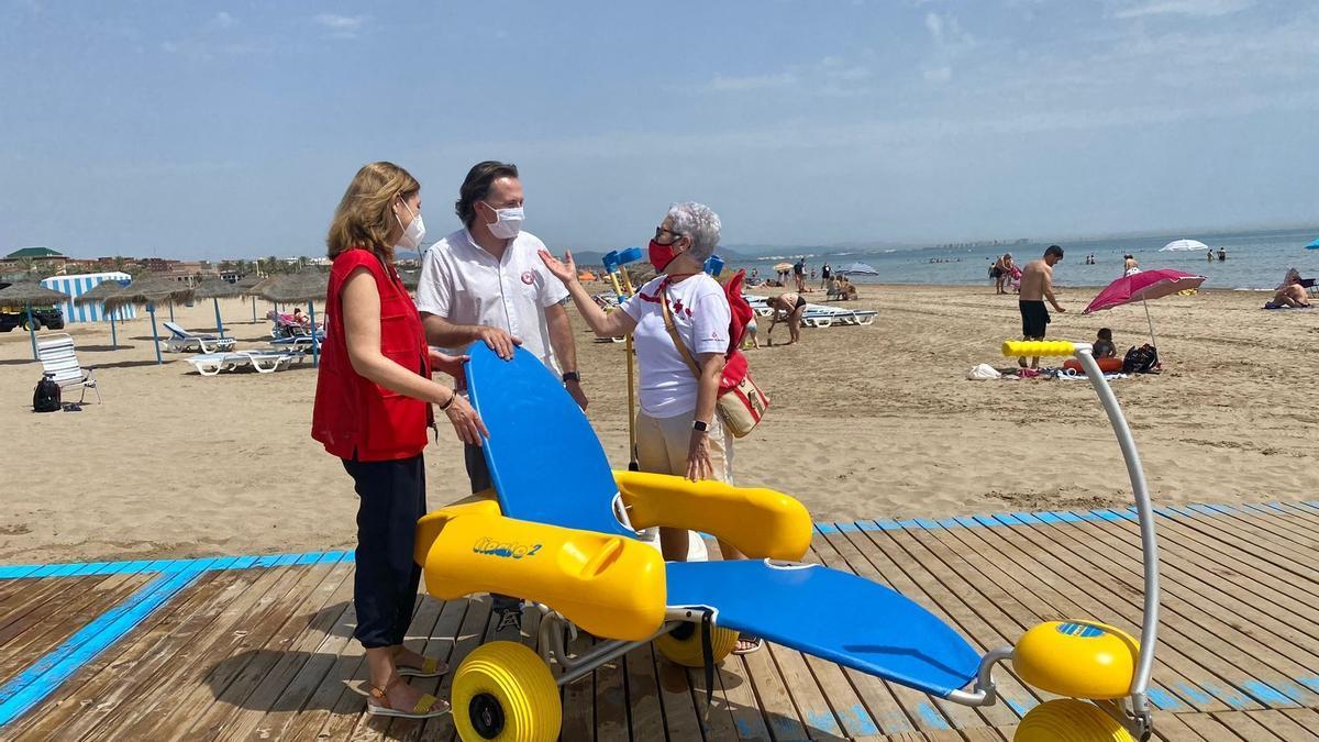 Punto accesible en la playa