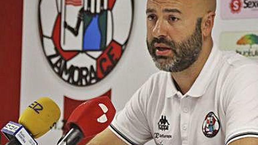 David Movilla, entrenador del Zamora CF.