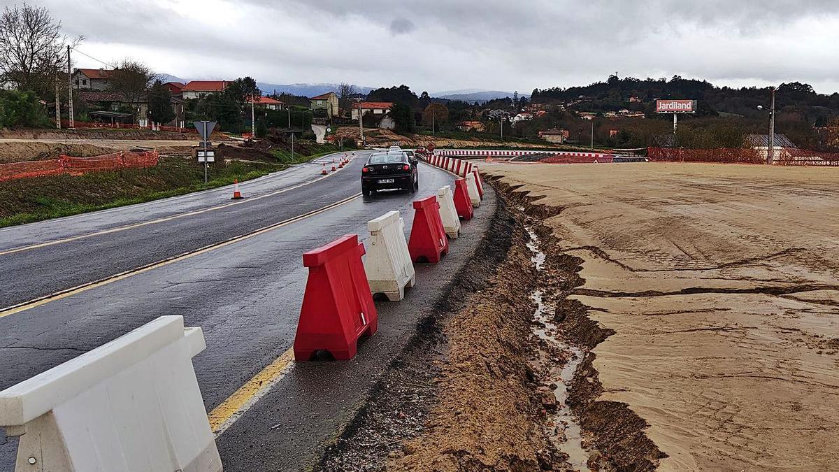 Obras de la Xunta para prolongar la ártabra de la N-VI a la AP-9.     // LA OPINIÓN