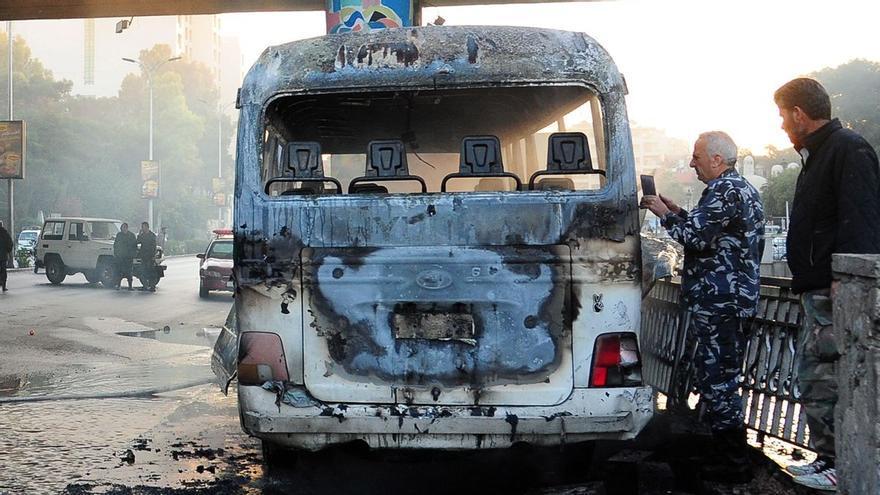 Un ataque con bombas deja a 14 soldados muertos en Damasco