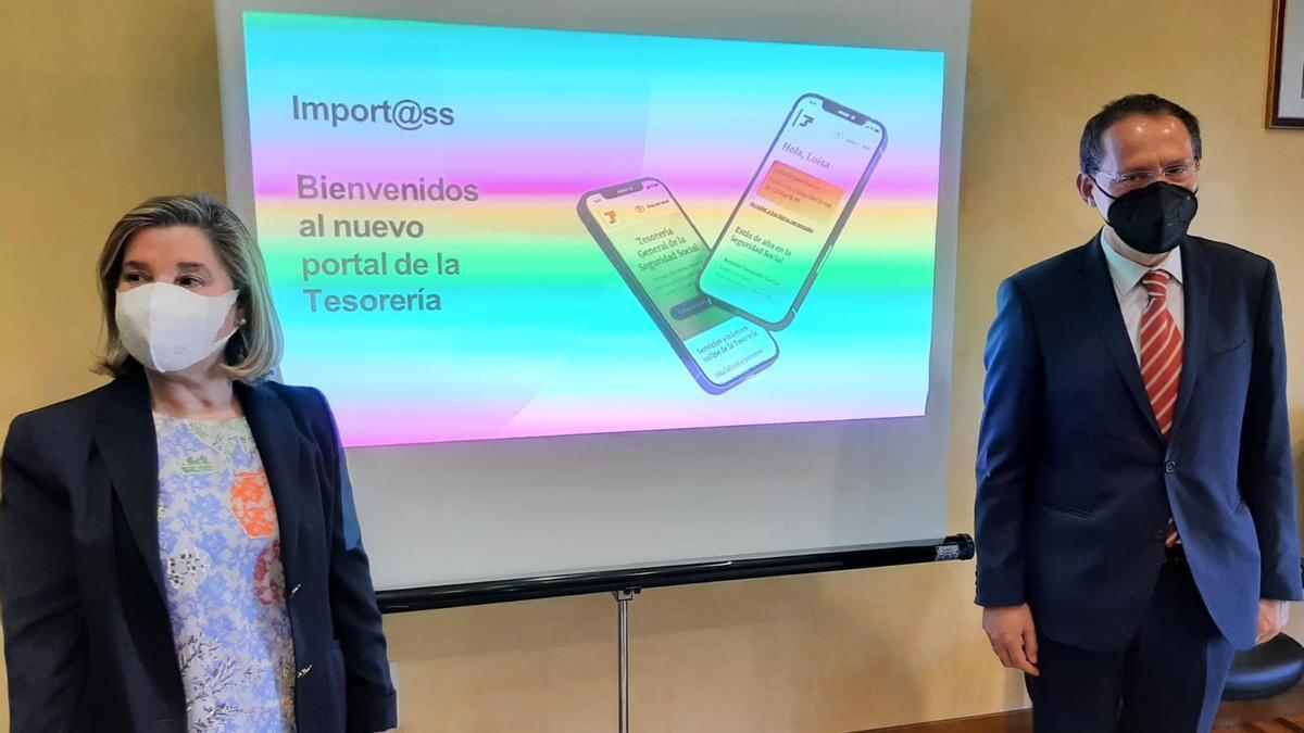 Teresa Peral y Ángel Blanco presentan el portal web de la Seguridad Social