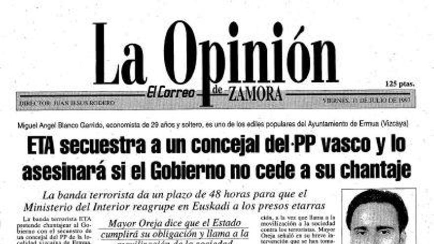 Zamora: 24 años del asesinato de Miguel Ángel Blanco