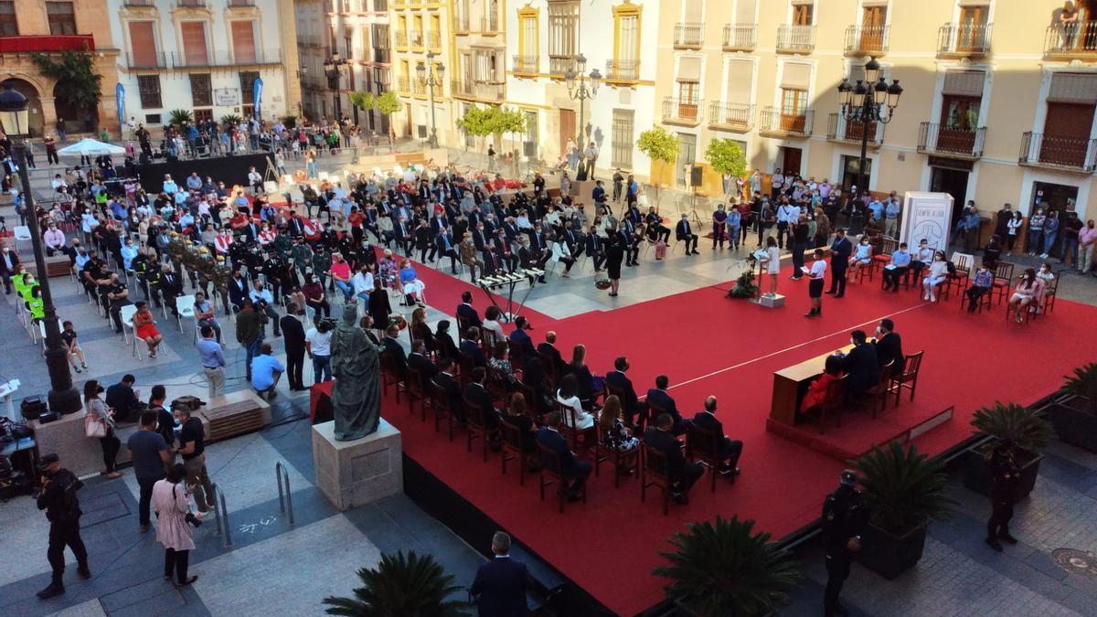 Acto institucional por el X aniversario de los terremotos de Lorca.