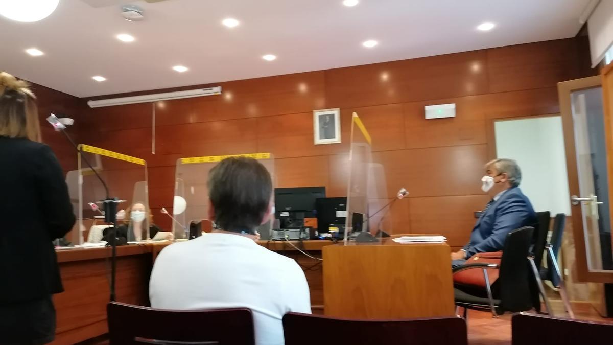 El acusado durante el juicio de la Audiencia