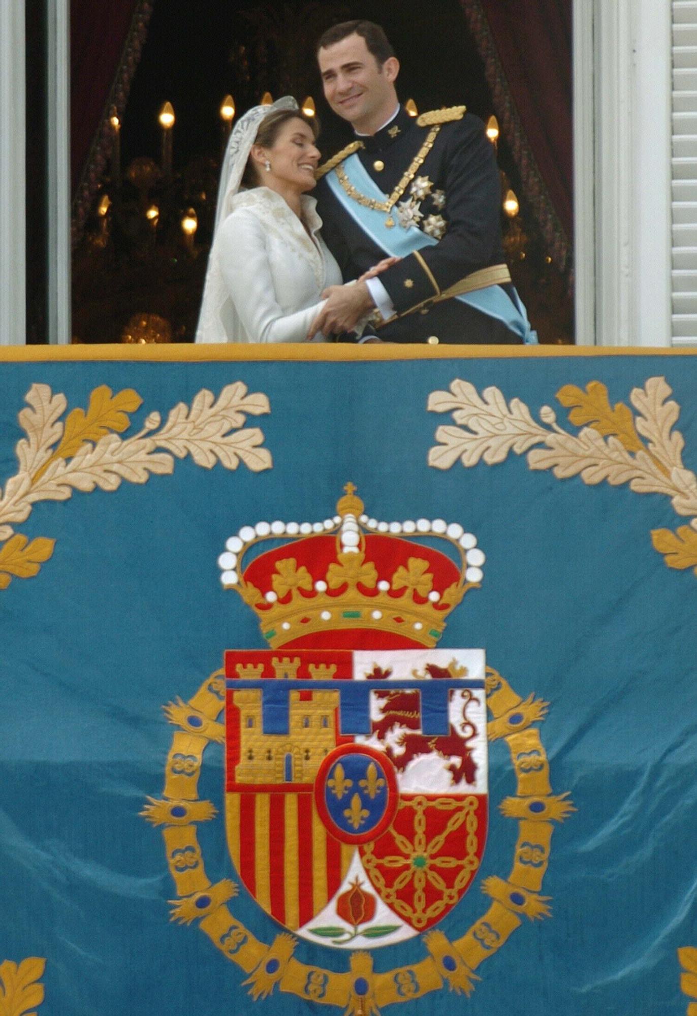 Así fue la boda real de Felipe y Letizia en 2004