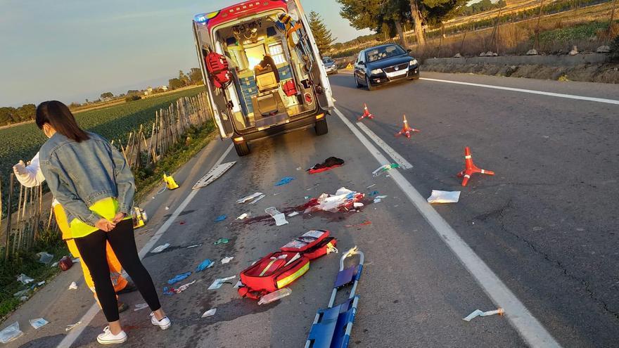 Herido grave un ciclista tras ser arrollado por una furgoneta en Almoradí