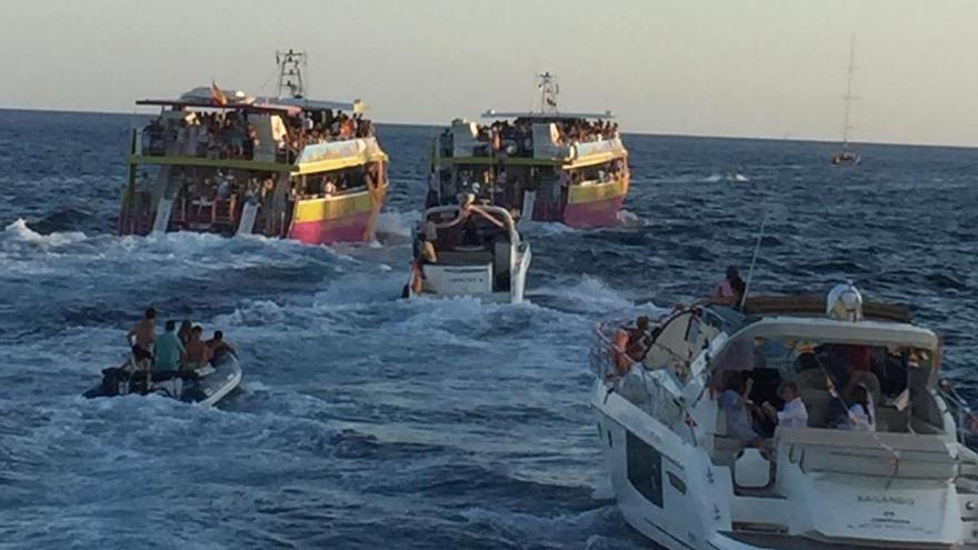 Procesión marítima en Cala d'Or