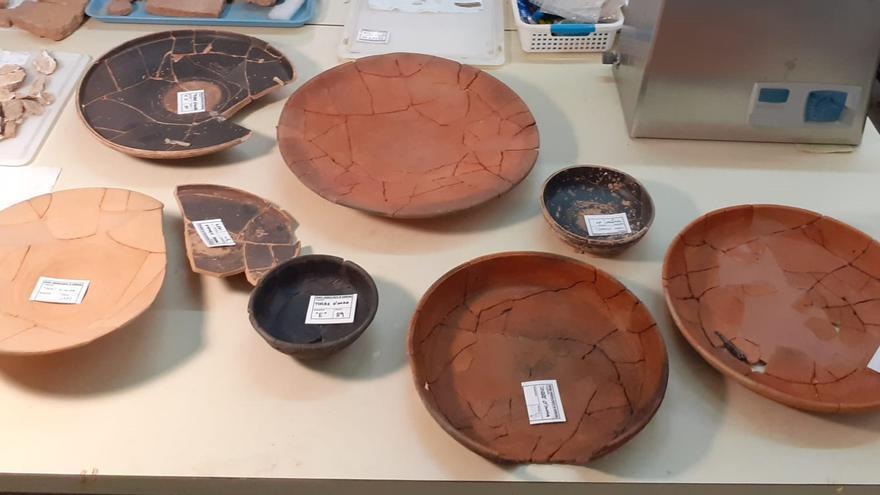 Burriana restaura ocho piezas del yacimiento íbero de Torre d'Onda