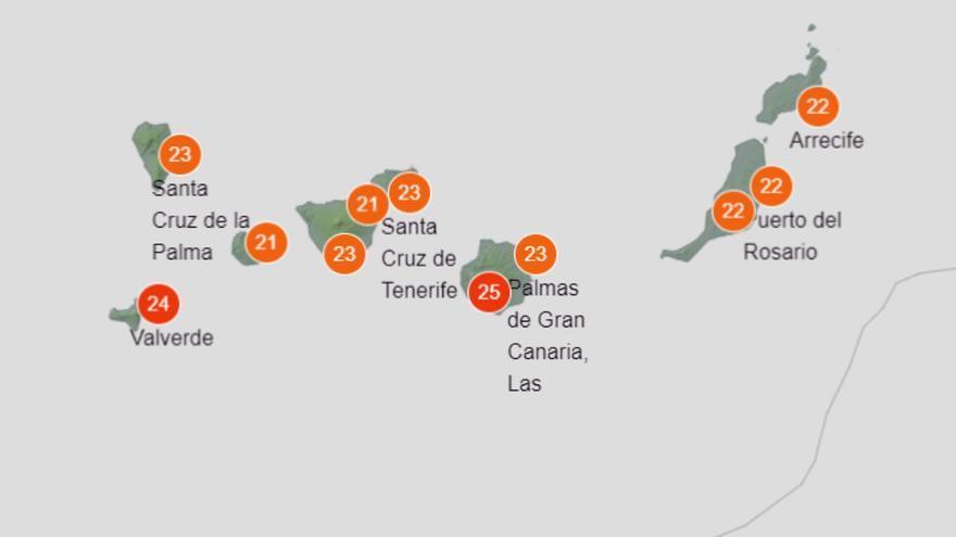 Siete municipios canariosen alerta roja por temperaturas máximas