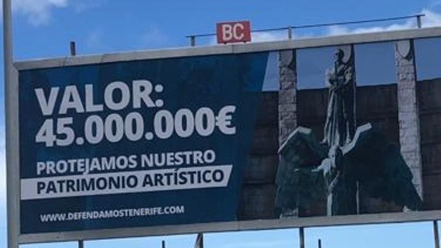El 'Monumento del Ángel', a la venta en una valla publicitaria