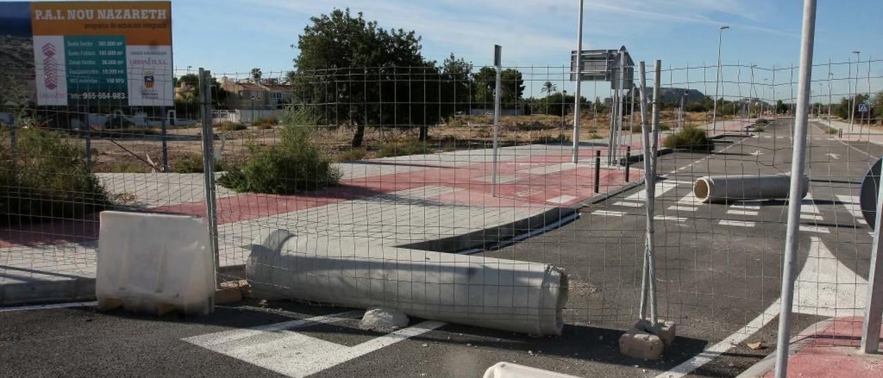 Uno de los tramos del complejo urbanístico de Nou Nazareth, cerca de Sant Joan.
