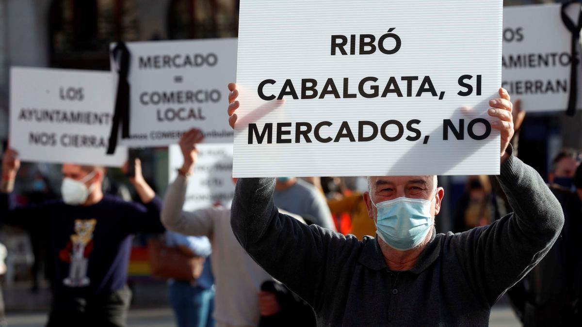 Protesta mercadillos