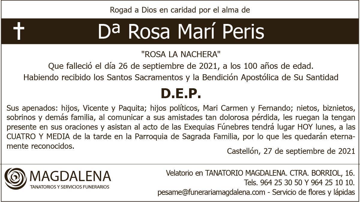 Dª Rosa Marí Peris
