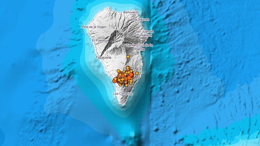 Registrados más de 60 terremotos en La Palma, el mayor de 4,6 de magnitud