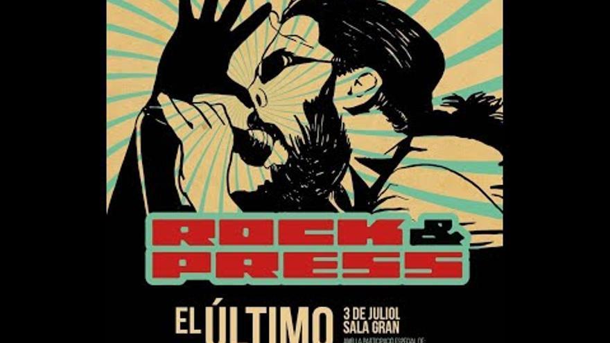 El actor Joan Bibiloni y el vigilante de seguridad más famoso, Primo, disparan contra Rock&Press