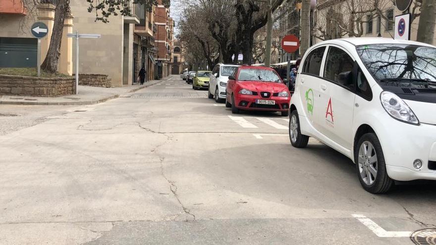 L'Ajuntament de Solsona amplia la zona blava del Passeig del Pare Claret
