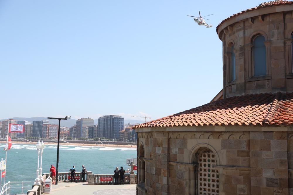 Operativo de búsqueda en San Lorenzo