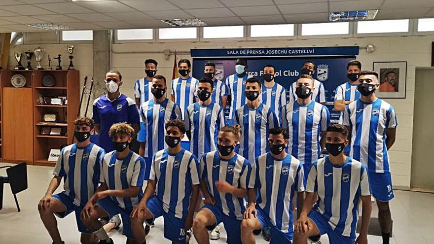 La tercera plantilla de la liga del Lorca FC, con 21 jugadores